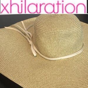 Xhilaration Wide Floppy Beach Pool Straw Hat